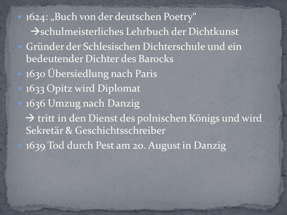 """1624: """"Buch von der deutschen Poetry"""