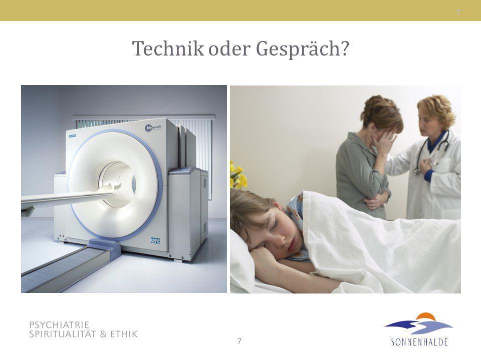 Technik oder Gespräch