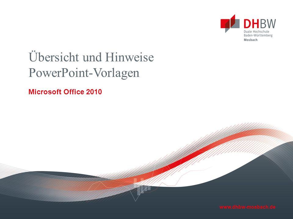 Übersicht und Hinweise PowerPoint-Vorlagen
