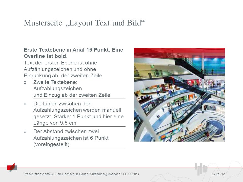 """Musterseite """"Layout Text und Bild"""