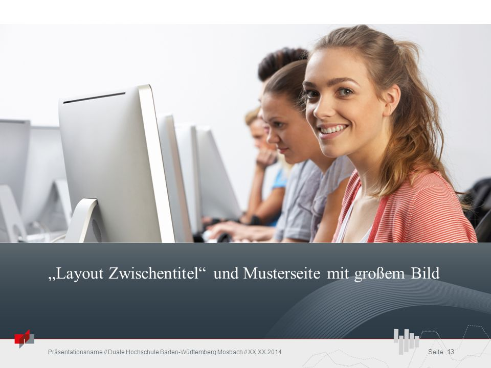 """""""Layout Zwischentitel und Musterseite mit großem Bild"""