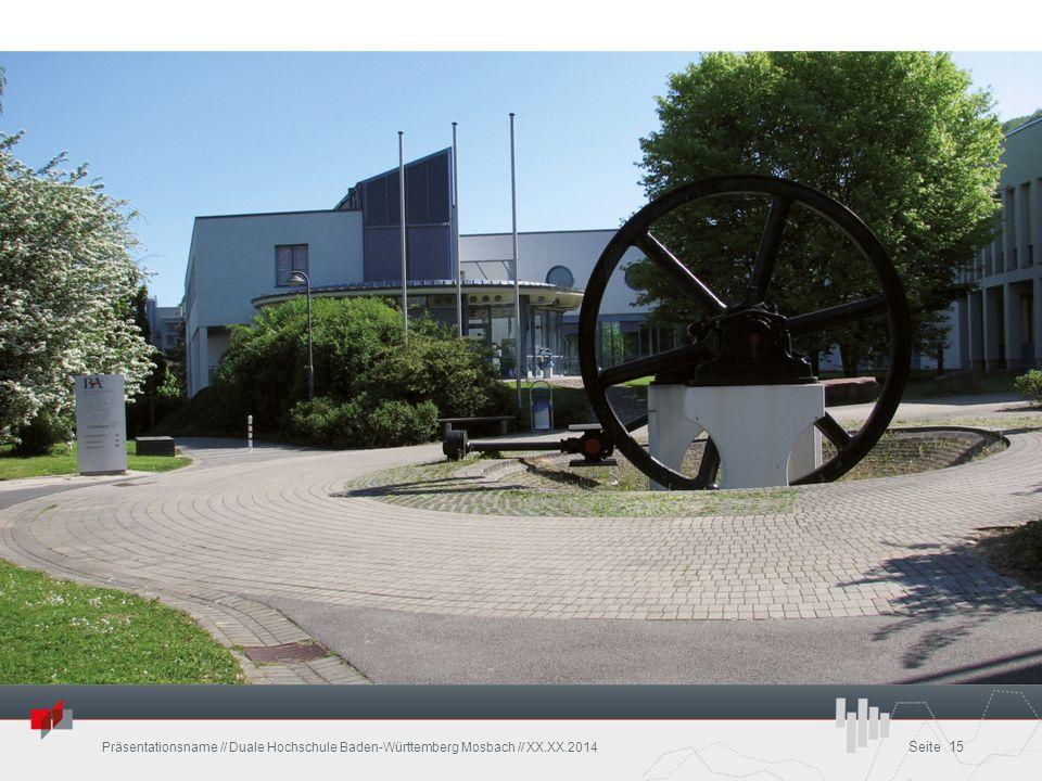 Präsentationsname // Duale Hochschule Baden-Württemberg Mosbach // XX