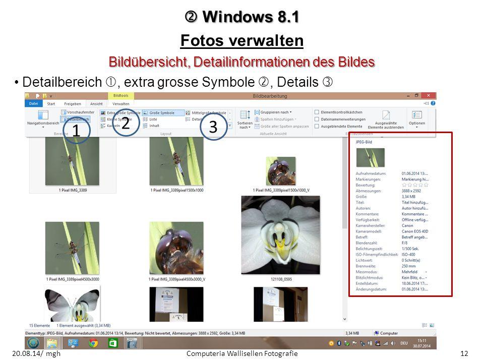 2 3 1  Windows 8.1 Fotos verwalten