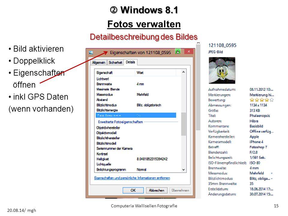  Windows 8.1 Fotos verwalten Detailbeschreibung des Bildes