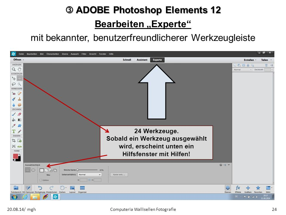 " ADOBE Photoshop Elements 12 Bearbeiten ""Experte"