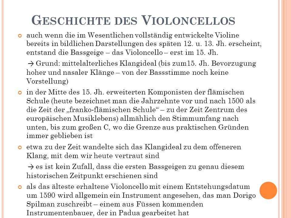 Geschichte des Violoncellos
