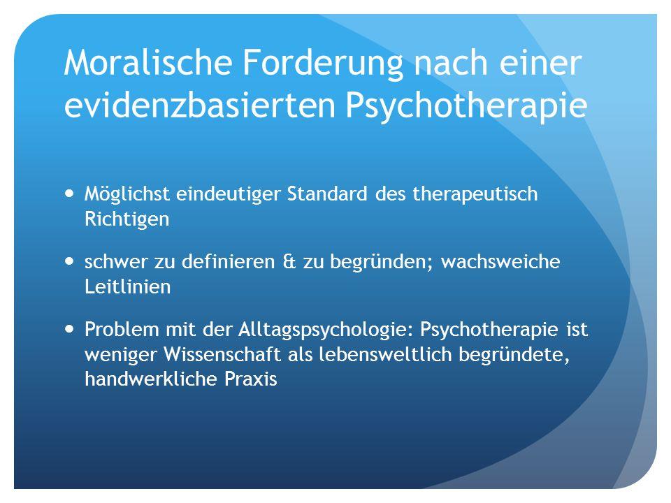Moralische Forderung nach einer evidenzbasierten Psychotherapie