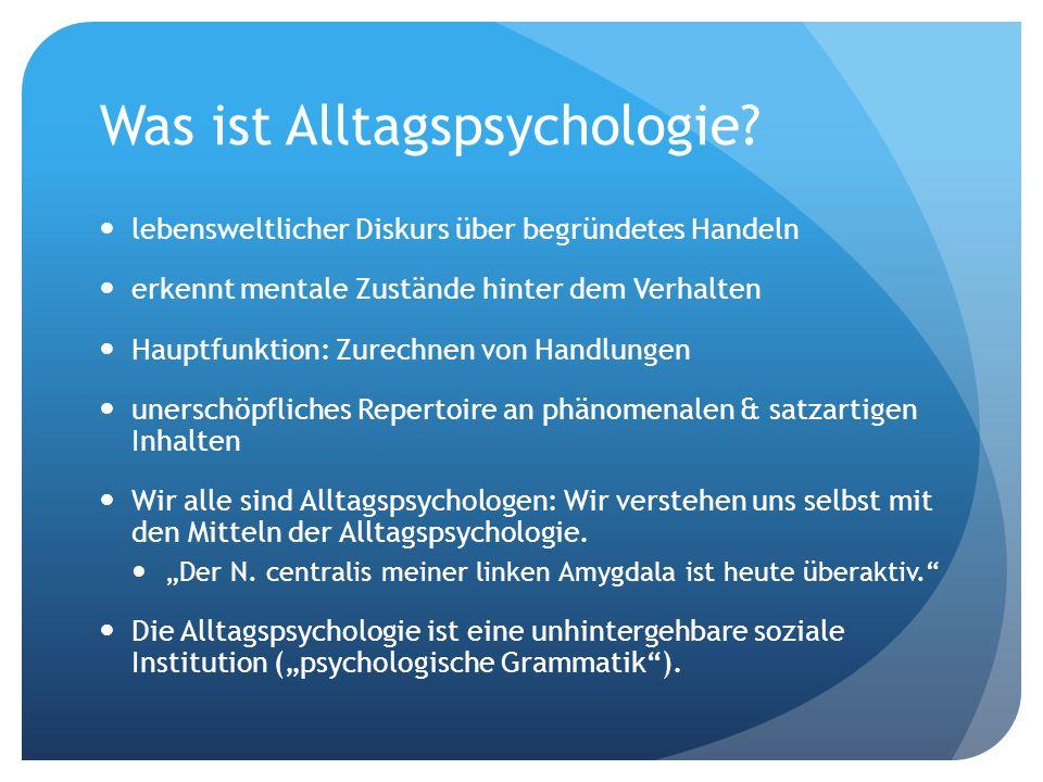 Was ist Alltagspsychologie