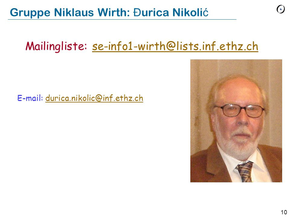 Gruppe Niklaus Wirth: Đurica Nikolić