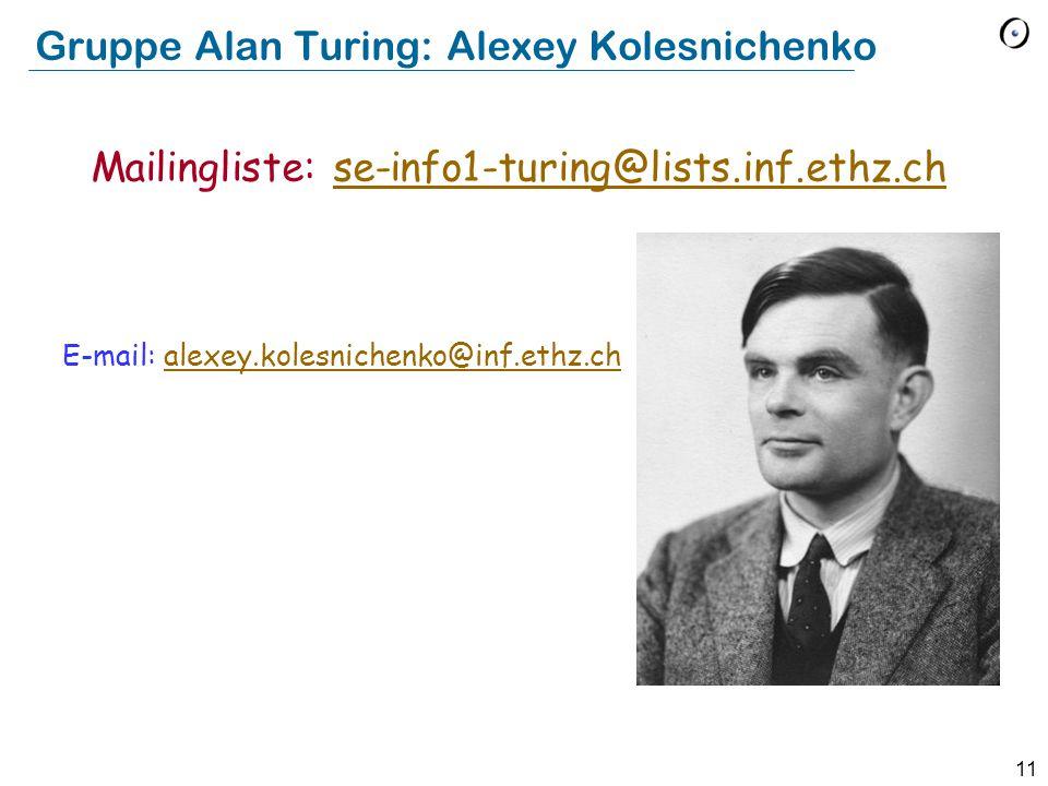 Gruppe Alan Turing: Alexey Kolesnichenko