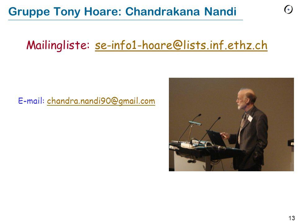 Gruppe Tony Hoare: Chandrakana Nandi