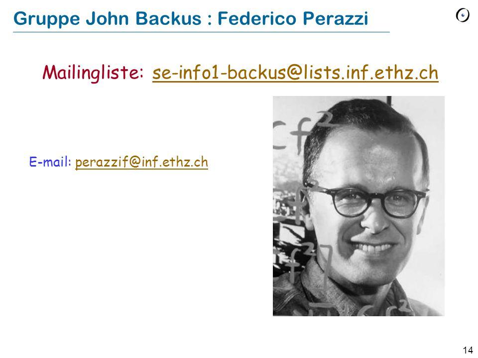 Gruppe John Backus : Federico Perazzi