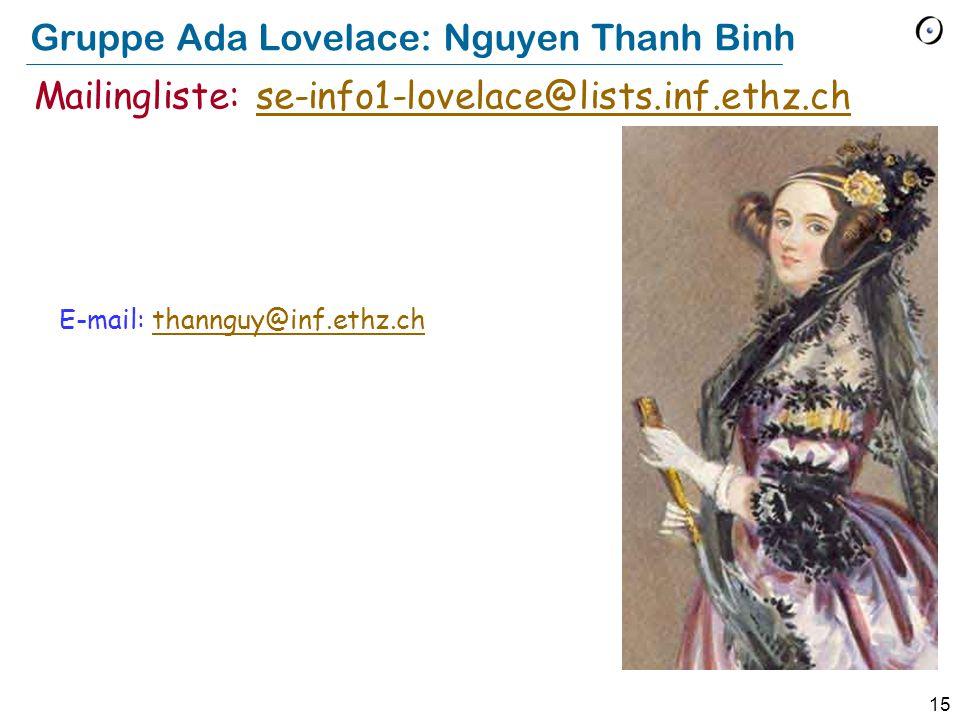 Gruppe Ada Lovelace: Nguyen Thanh Binh