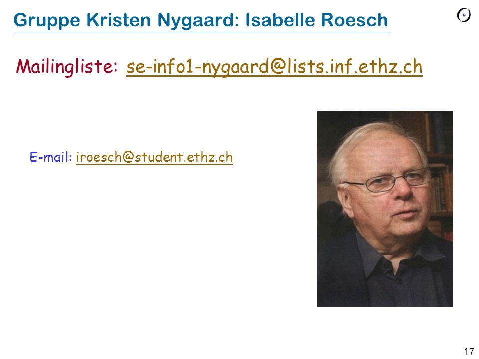 Gruppe Kristen Nygaard: Isabelle Roesch