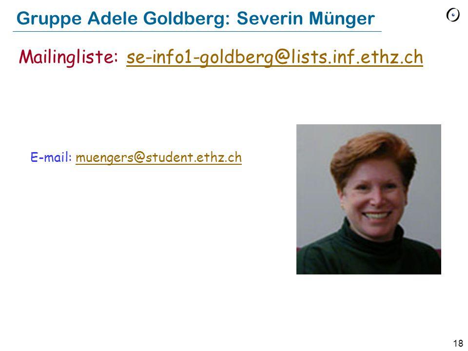 Gruppe Adele Goldberg: Severin Münger