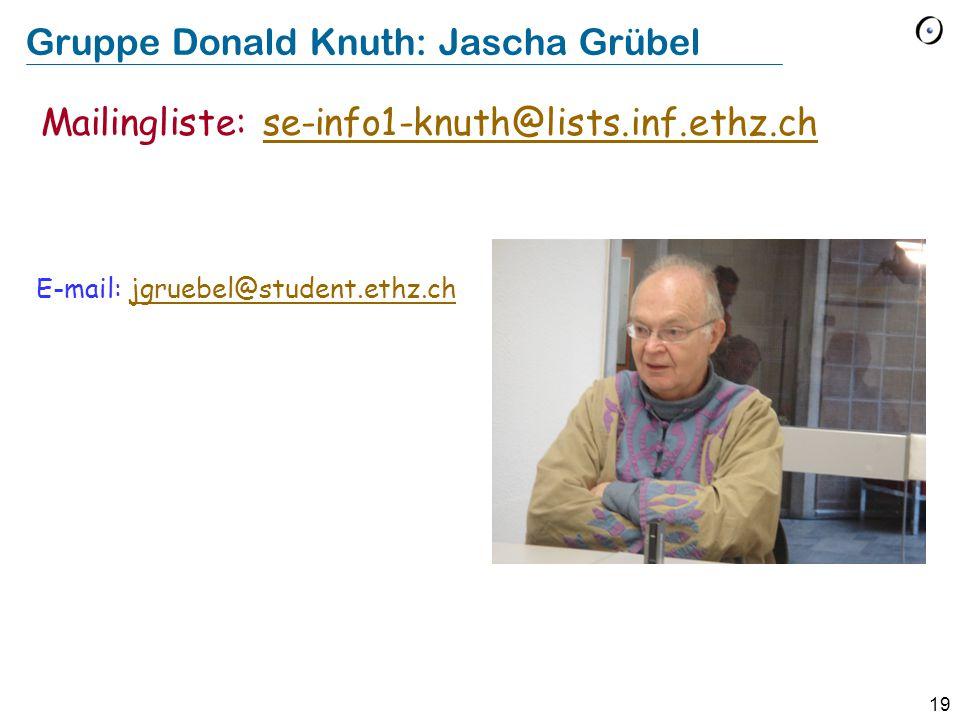 Gruppe Donald Knuth: Jascha Grübel