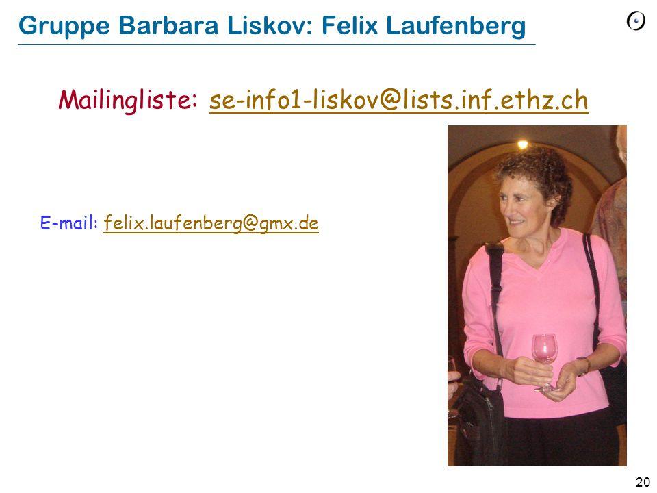 Gruppe Barbara Liskov: Felix Laufenberg
