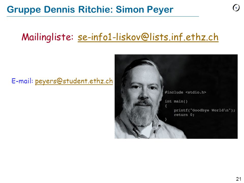 Gruppe Dennis Ritchie: Simon Peyer
