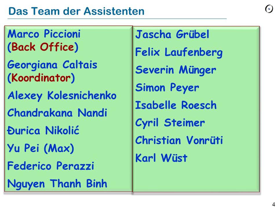 Das Team der Assistenten
