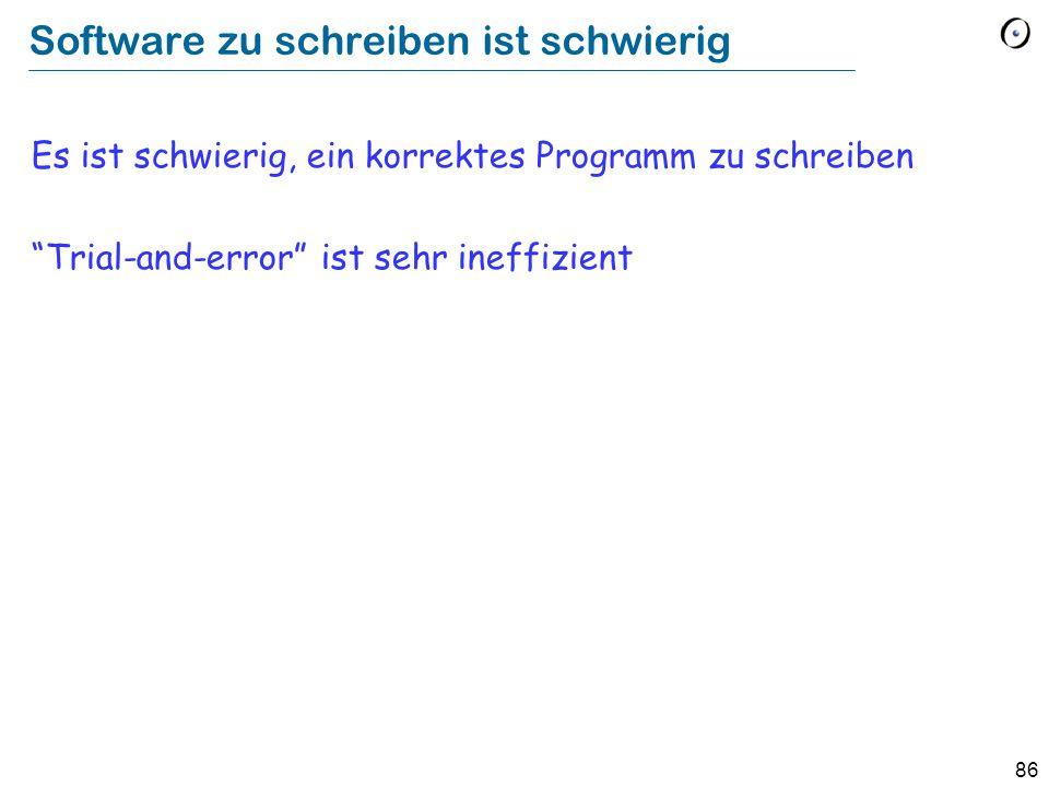 Software zu schreiben ist schwierig