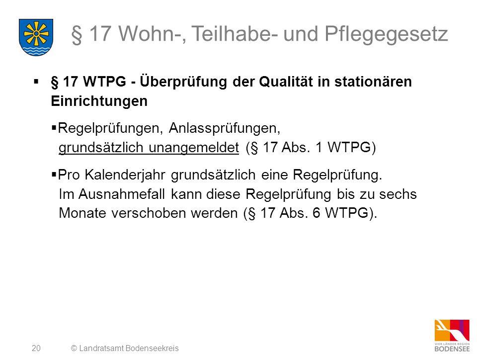§ 17 Wohn-, Teilhabe- und Pflegegesetz