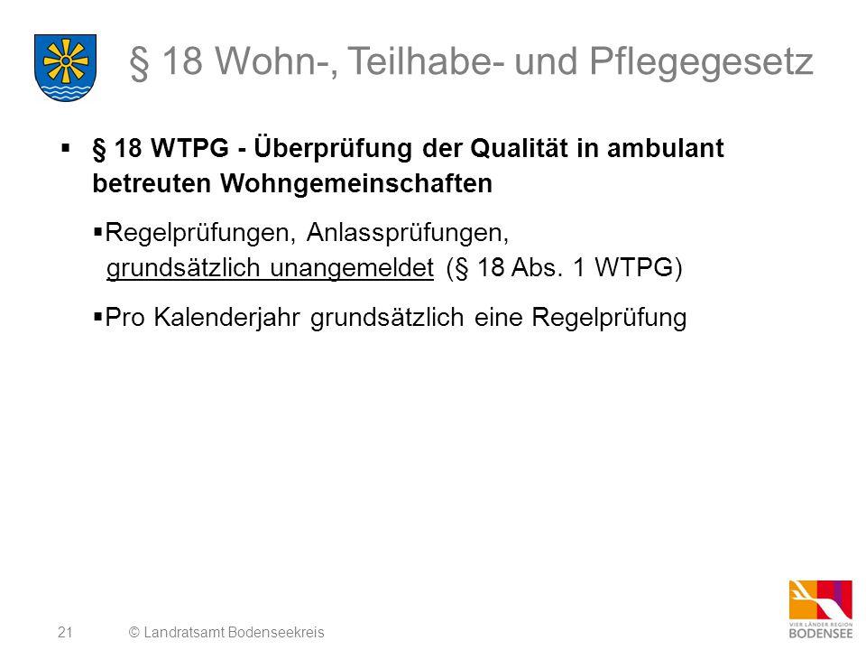 § 18 Wohn-, Teilhabe- und Pflegegesetz