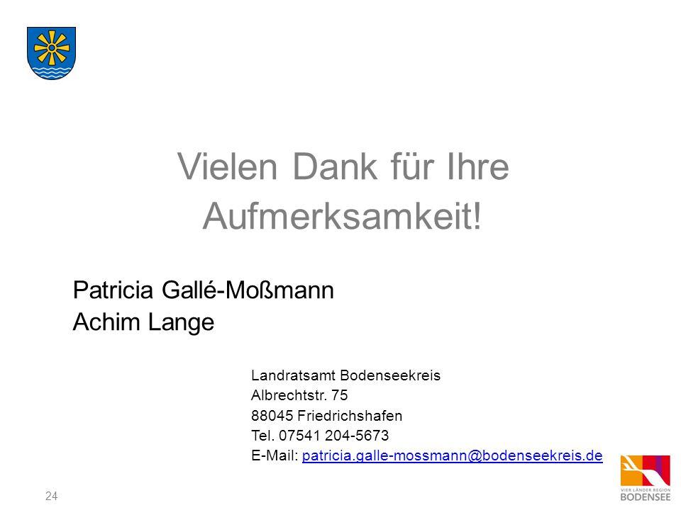 Vielen Dank für Ihre Aufmerksamkeit! Patricia Gallé-Moßmann