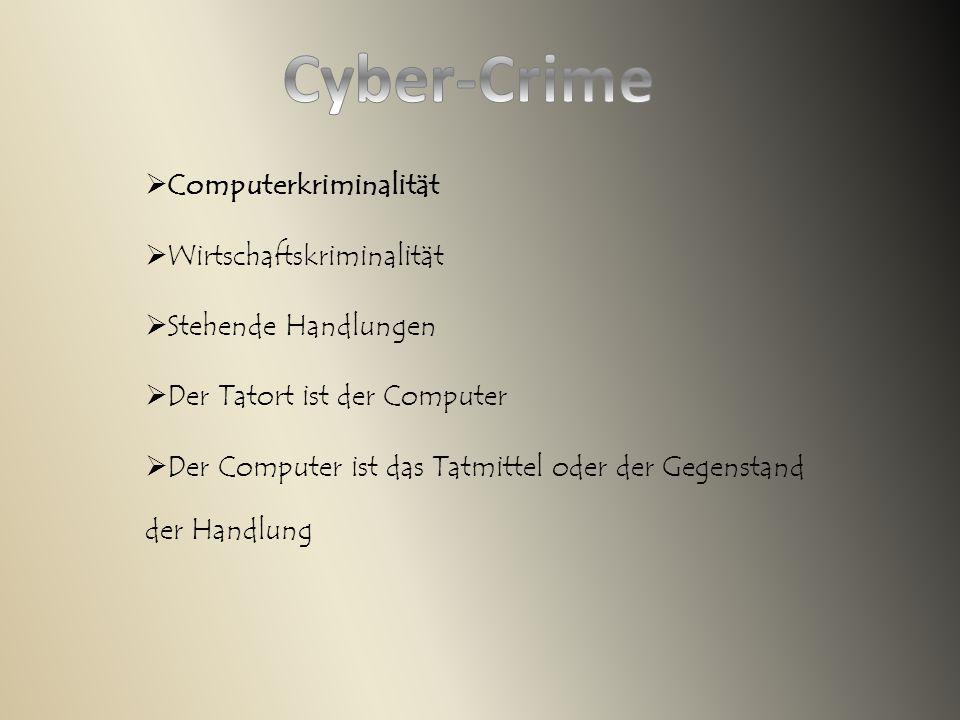 Cyber-Crime Computerkriminalität Wirtschaftskriminalität