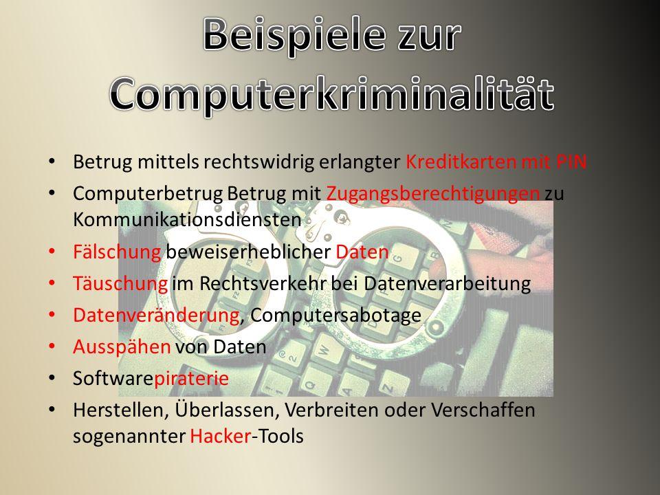 Beispiele zur Computerkriminalität
