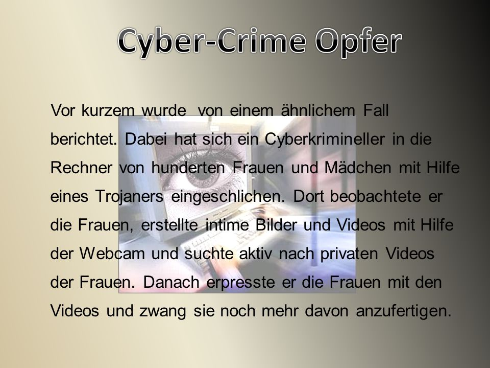 Cyber-Crime Opfer