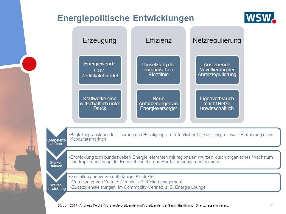 Energiepolitische Entwicklungen