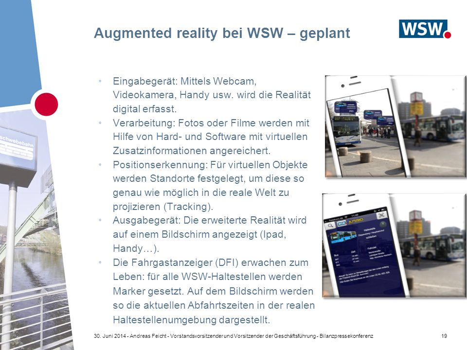 Augmented reality bei WSW – geplant