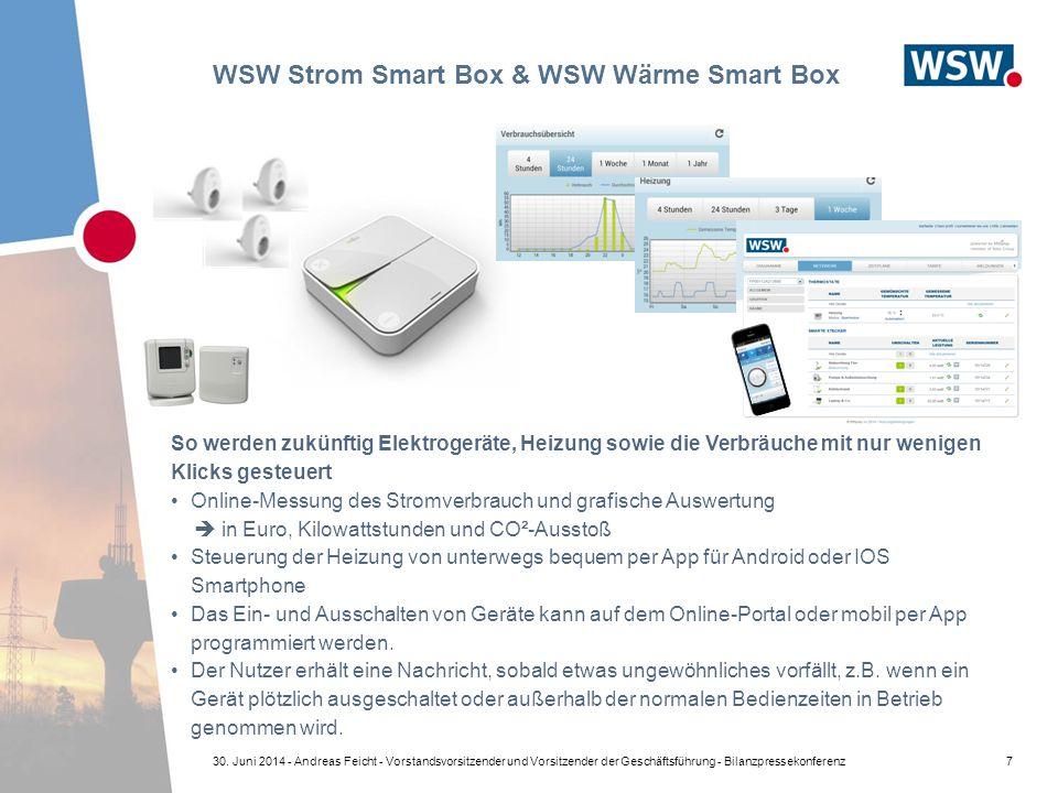 WSW Strom Smart Box & WSW Wärme Smart Box