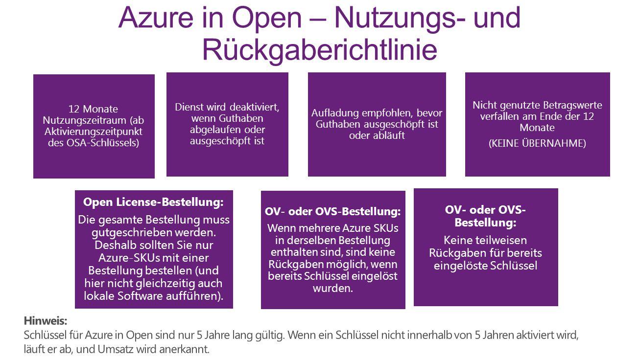 Azure in Open – Nutzungs- und Rückgaberichtlinie