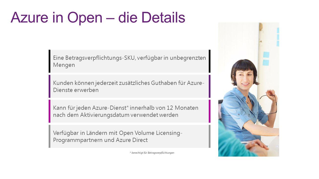 Azure in Open – die Details
