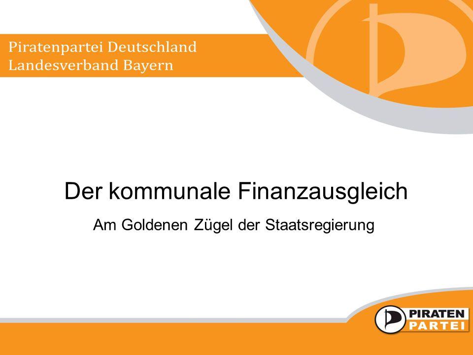 Der kommunale Finanzausgleich