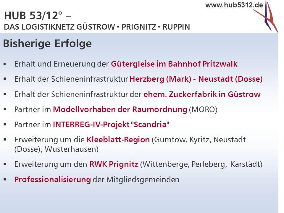 Bisherige Erfolge Erhalt und Erneuerung der Gütergleise im Bahnhof Pritzwalk. Erhalt der Schieneninfrastruktur Herzberg (Mark) - Neustadt (Dosse)