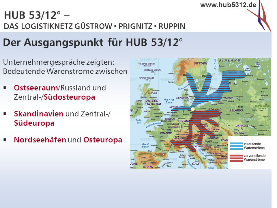 Der Ausgangspunkt für HUB 53/12°