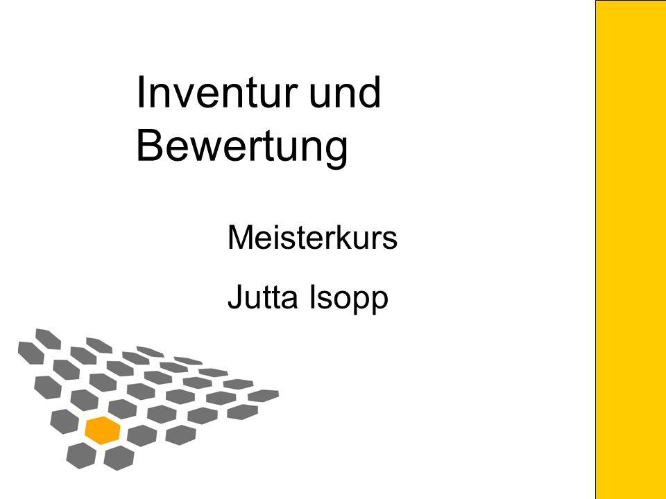 Inventur und Bewertung
