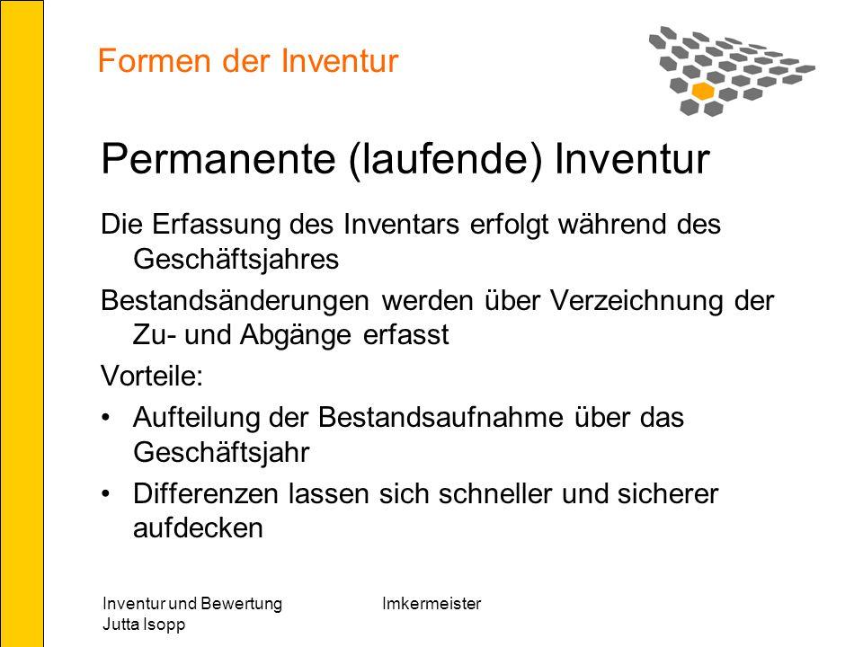 Permanente (laufende) Inventur