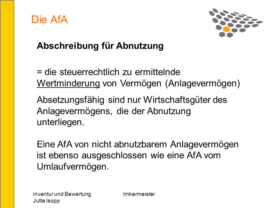 Die AfA Abschreibung für Abnutzung