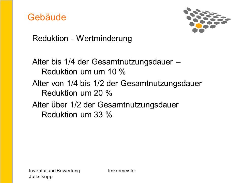 Gebäude Reduktion - Wertminderung