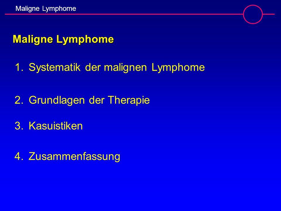 Maligne Lymphome Systematik der malignen Lymphome.