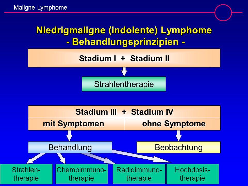 Niedrigmaligne (indolente) Lymphome - Behandlungsprinzipien -