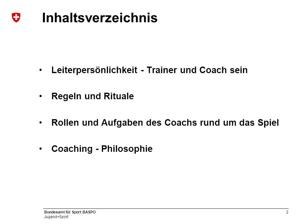Inhaltsverzeichnis Leiterpersönlichkeit - Trainer und Coach sein