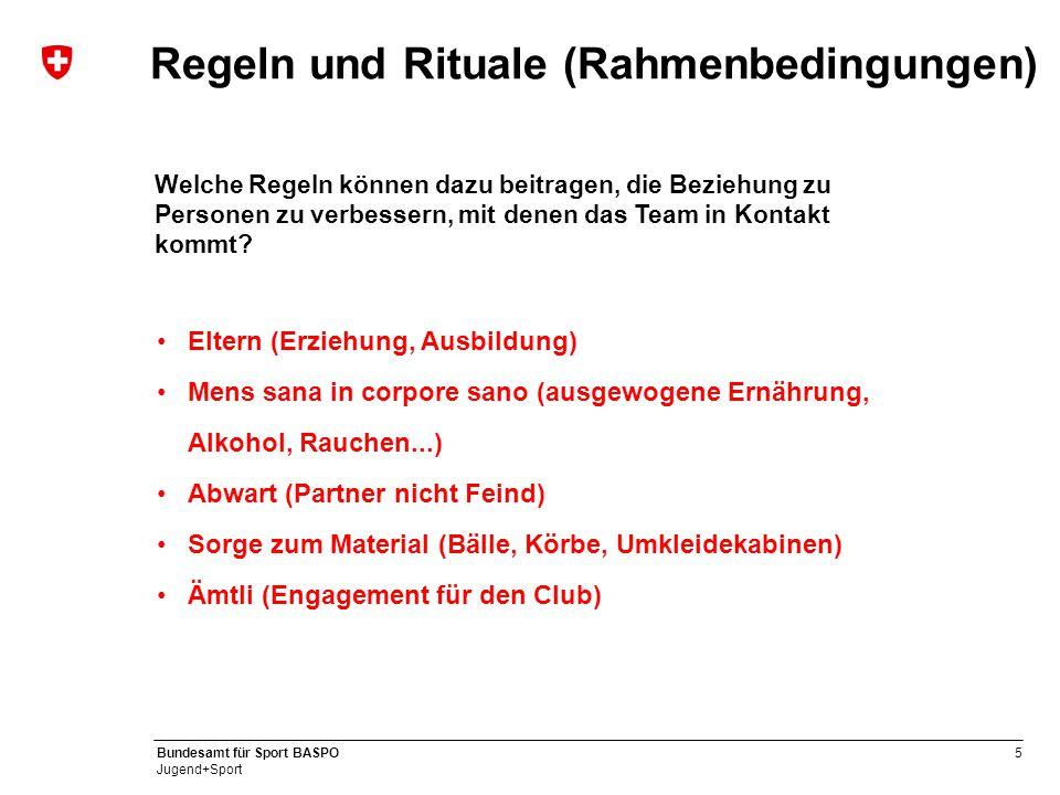 Regeln und Rituale (Rahmenbedingungen)