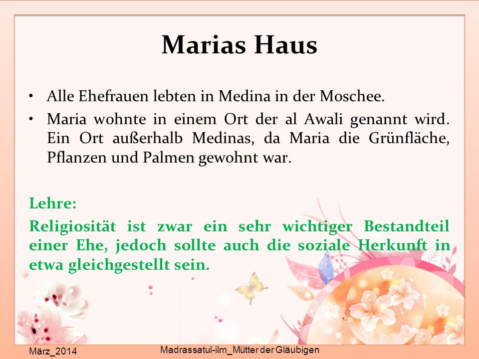 Madrassatul-ilm_Mütter der Gläubigen