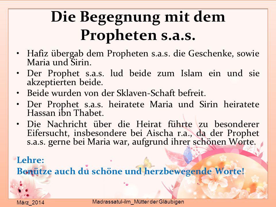 Die Begegnung mit dem Propheten s.a.s.