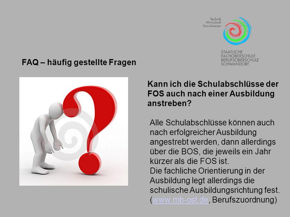 FAQ – häufig gestellte Fragen