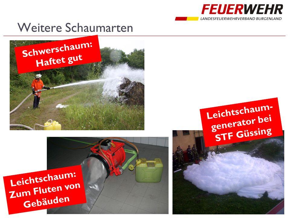 Leichtschaum-generator bei STF Güssing Zum Fluten von Gebäuden